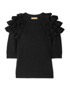 Starlet Ruffled Cashmere Sweater by Michael Kors Collection
