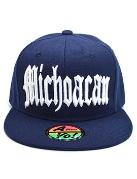Abless Yo Michoacan Mexico City Fitted Hat Closed Back Flat Bill Snapback Cap Ayo4314 by Abless Yo