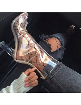 2018 Europe Spring Summer New Hot Women Pumps Sexy High Heels Shoes Transparent Crystal Cool Boots Sandals Woman by Hitonscool