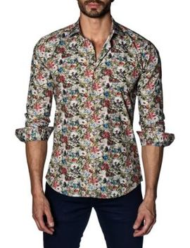 Floral Cotton Button Down Shirt by Jared Lang