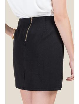 Halle Front Pocket Mini Skirt by Francesca's