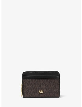 Small Logo And Leather Wallet by Michael Michael Kors