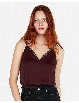 Lace Trim Downtown Cami by Express