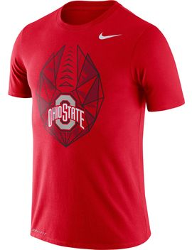 Nike Men's Ohio State Buckeyes Scarlet Dri Fit Football Icon T Shirt by Nike