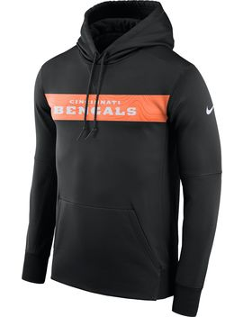 Nike Men's Cincinnati Bengals Sideline Therma Fit Black Full Zip Hoodie by Nike