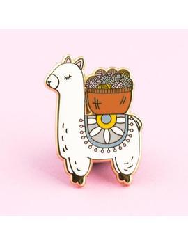 Llama Pin | Alpaca Pin, Yarn Pin, Yarn Enamel Pin, Knitting Pin, Knitting Pin, Crocheting Pin, Crochet Pin, Knit Pin, Alapca Enamel Pin by Thecleverclove