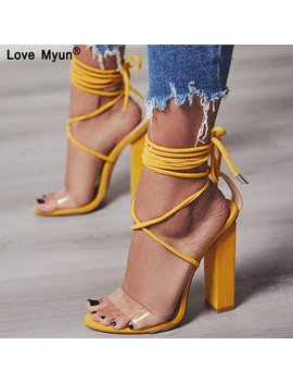 Women Pumps 2018 Summer High Heels Sandals Pvc Transparent Women Heels Wedding Shoes Women Casual Waterproof Sandalia Feminina88 by Love Myun