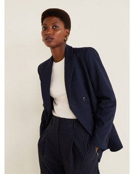 Pinstripe Suit Trousers by Mango