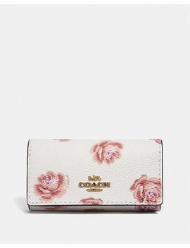 Six Ring Key Case With Rose Print by Coach