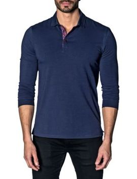 Long Sleeve Stretch Polo by Jared Lang