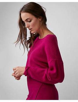 Drop Shoulder Cropped Sweater by Express