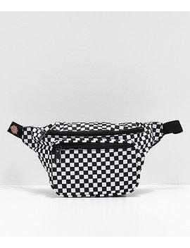 Dickies Black Checkerboard Fanny Pack by Dickies