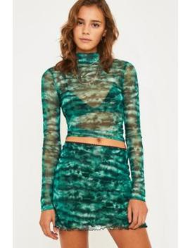 Uo Tie Dye Mesh Mini Skirt by Urban Outfitters