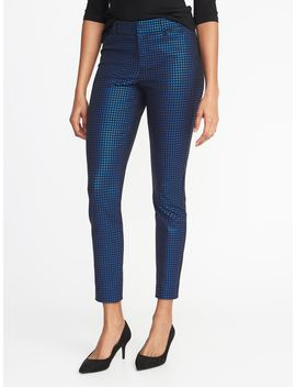 Mid Rise Pixie Jacquard Ankle Pants For Women by Old Navy