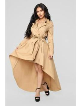 Walk In The Park Dress   Taupe by Fashion Nova