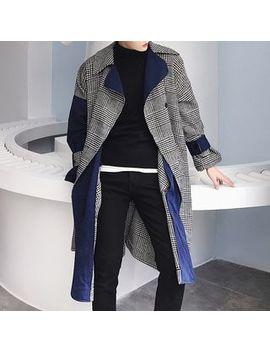 Bjorn   Color Block Plaid Buttoned Coat by Bjorn