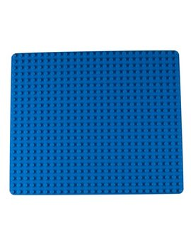 "Strictly Briks Classic Big Briks Baseplate By 100 Percents Compatible With All Major Brands | Large Pegs For Toddlers | 13.75"" X 16.25"" Building Brick 