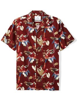 28 Palms Men's Standard Fit 100 Percents Cotton Tropical Hawaiian Shirt by 28+Palms