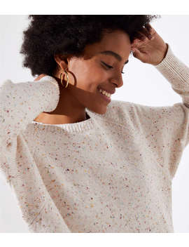 Speckled Dolman Sweater by Loft