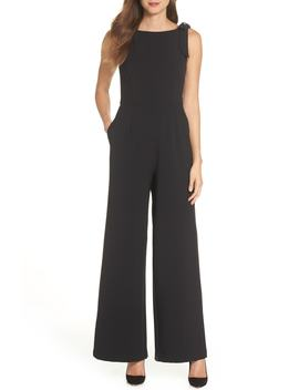 Shoulder Bow Jumpsuit by Julia Jordan
