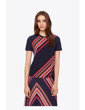 Silk Front T Shirt by Tory Burch