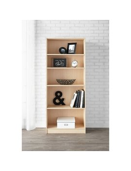"""Mainstays 71"""" 5 Shelf Standard Bookcase, Natural by Mainstays"""