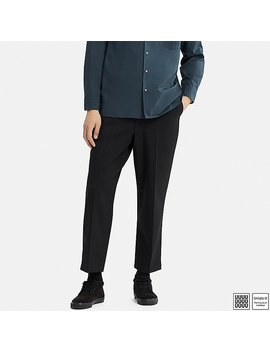 Men U Relaxed Wide Fit Ankle Length Pants by Uniqlo