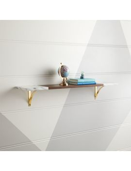 Modern Marble Shelf by Crate&Barrel