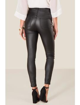 Harper Heritage High Rise Coated Jeans by Francesca's