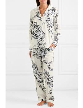Printed Cotton Voile Pajama Set by Desmond & Dempsey