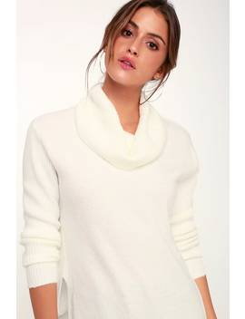 Brant Ivory Cowl Neck Knit Sweater by Olive + Oak