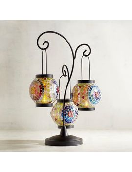 Mosaic Circle Tealight Lantern by Pier1 Imports