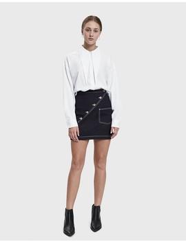 Unbalance Denim Mini Skirt by Low Classic