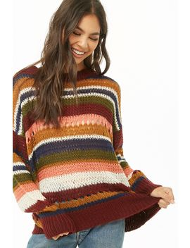 Multicolor Open Knit Sweater by Forever 21