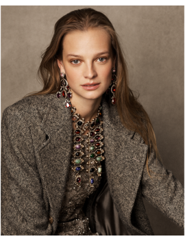 Bernette Donegal Tweed Coat by Ralph Lauren