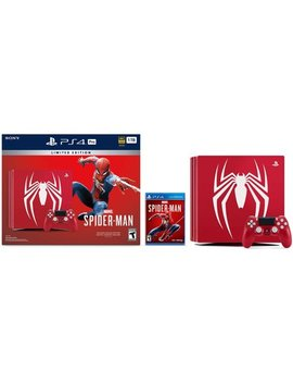 Sony Play Station 4 Ps4 Pro 1 Tb Limited Edition Marvel's Spider Man Console Bundle   Amazing Red by Play Station