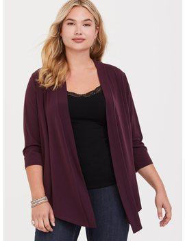 Purple Drape Studio Knit Cardigan by Torrid