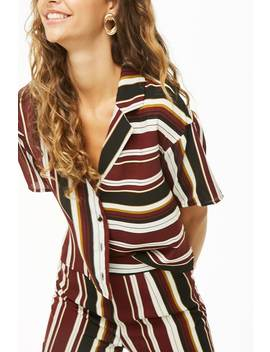 Vented Striped Shirt by Forever 21