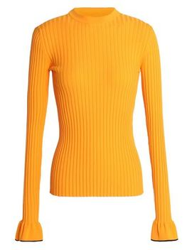 Fluted Ribbed Knit Top by Emilio Pucci