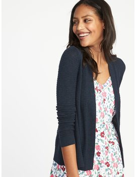 Womens Textured Open Front Cropped Sweater by Old Navy