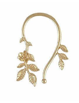 Young & Forever Women's Gold Floral Ear Cuffs by Young & Forever