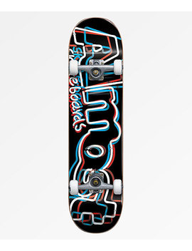 "Almost Neon Red, White &Amp; Blue 8.0"" Skateboard Complete by Almost"