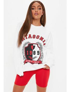 White Pantagonia Graphic Sweatshirt by Missguided