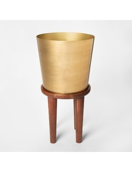 Plant Stand Tall   Wood/Gold   Threshold™ by Threshold™