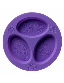 Silicone Baby & Toddler Divided Plate. Safe For Oven, Microwave, Dishwasher, Freezer And Boil Safe! Purple by Oogaa