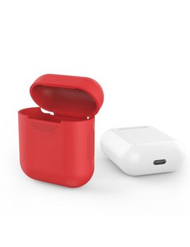 Air Pods Silicone Case Cover Protective Skin For Apple Air Pods Charging Case (Red) by Amazing For Less