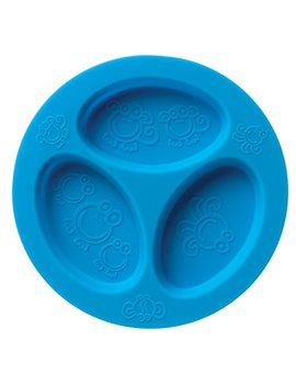 Silicone Baby & Toddler Divided Plate. Safe For Oven, Microwave, Dishwasher, Freezer And Boil Safe! Blue by Oogaa