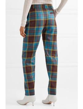 Tartan Wool Straight Leg Pants by House Of Holland