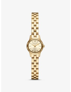 Petite Runway Gold Tone Watch by Michael Kors