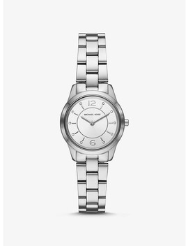 Petite Runway Silver Tone Watch by Michael Kors